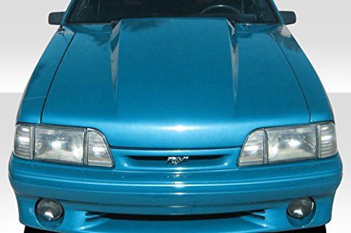 - Duraflex Replacement for 1987-1993 Ford Mustang 4 Inch Cowl Hood - 1 Piece