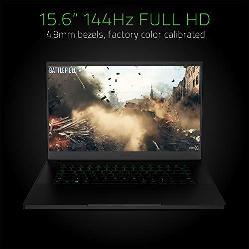 "Razer Blade 15 Gaming Laptop 2019: Intel Core i7-9750H 6 Core, NVIDIA GeForce RTX 2060, 15.6"" FHD 1080p 144Hz, 16GB RAM, 512GB SSD, CNC Aluminum, Chroma RGB Lighting, Thunderbolt 3"