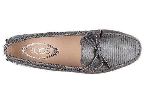 Tod's mocassins femme en cuir heaven laccetto occhielli gris