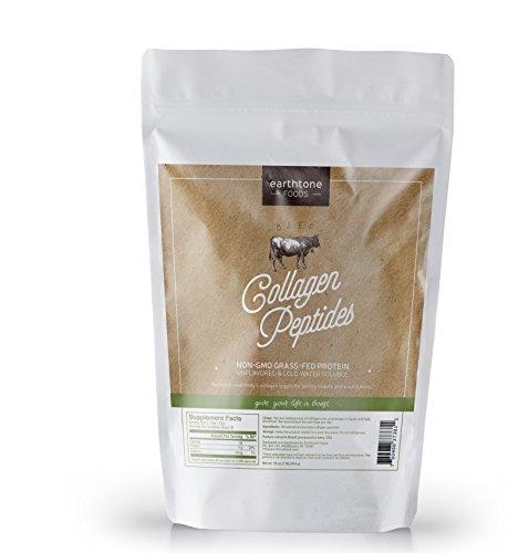 Earthtone Collagen Peptides (16 oz) | Premium Grass-Fed, Non-GMO Beef Protein (1 Pound (Earthtone Mix)