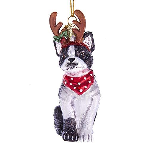 Terrier Glass Ornament - 4
