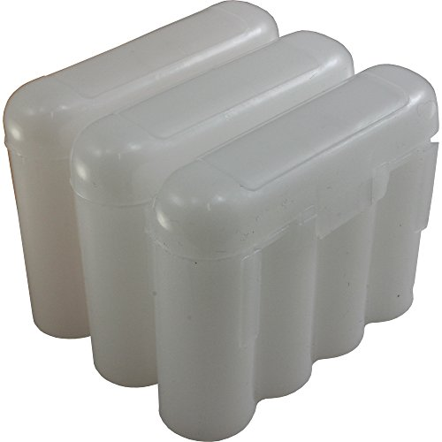 3 Brand New AA / AAA / CR123A White Battery Holder Storage Cases