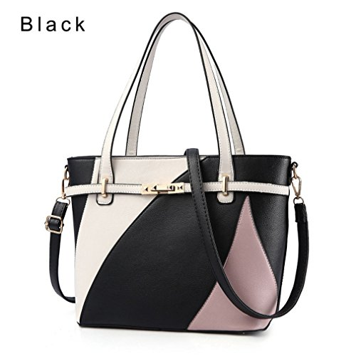 Crossbody Handbags Shoulder For Pu Women Fashion Capacity Black Tote Women Bags Large Bag Leather Bags Bag ttRqBn