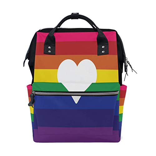 (Diaper Bags Gay Pride Love Fashion Mummy Backpack Multi Functions Large Capacity Nappy Bag Nursing Bag for Baby Care for)
