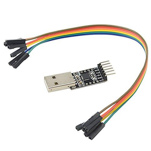 WGCD 2 PCS USB 2.0 to TTL UART CP2102 Module 6 Pin Serial Converter by WGCD (Image #3)