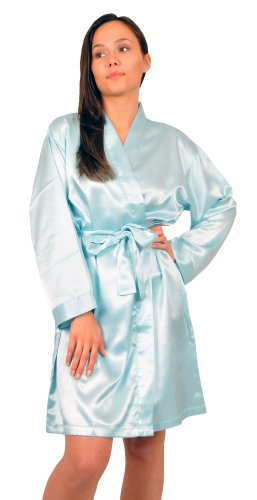 Up2date Fashion Women's Satin Charmeuse Robes, Style#Gwn-11