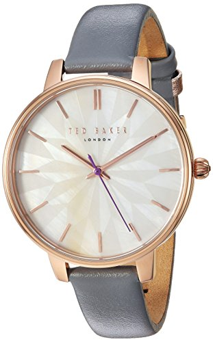 Ted Baker Women's 'KATE' Quartz Stainless Steel and Leather Casual Watch, Color:Grey (Model: TE50272005) by Ted Baker (Image #3)