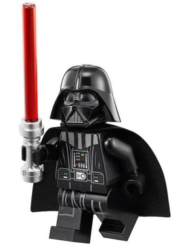 LEGO Star Wars Minifigure - Darth Vader (White Head-Neck Piece Helmet) 75093 (Vadar Figures Star Wars Darth)