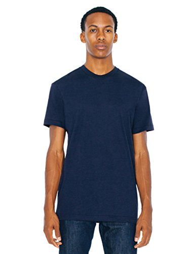 American Apparel  Poly-Cotton Short Sleeve Crew Neck, Navy, X-Large