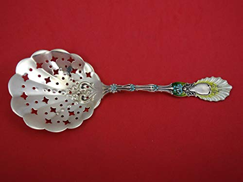 - Radiant by Whiting Sterling Silver Pea Spoon Enamel 8 3/4