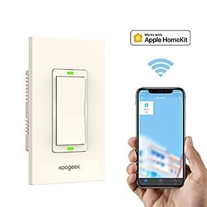 Koogeek Smart Wifi Light Switch Dimmer Works With Apple