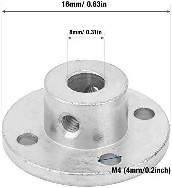 Homyl 4x Acoplamientos R/ígidos de Brida de Motor Connector 6mm piezas de Bricolaje de Alta Calidad