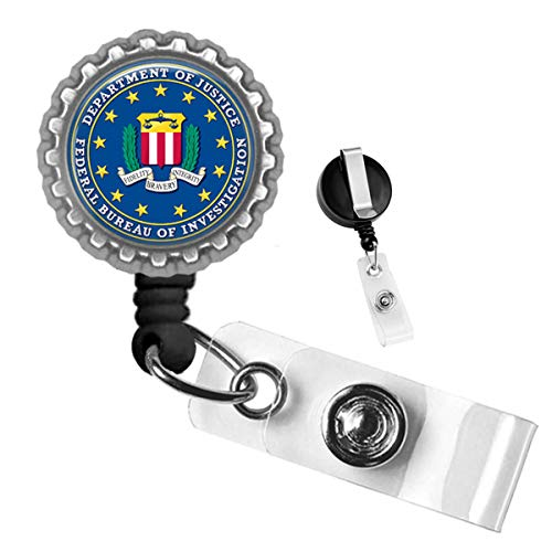 Department of Justice Federal Bureau of Investigation Silver Retractable ID Tag Badge Reel (Best Fbi Field Offices)
