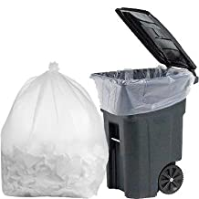 PlasticMill 100 Gallon Clear Contractor 3 Mil Trash Can Liners for Outdoor, Municipal, or Township Garbage Cans - 1 Bag sample