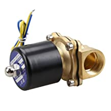 Electric Brass Solenoid Valve DC 12V Normally Closed Solenoid Valve for Water Air Gas