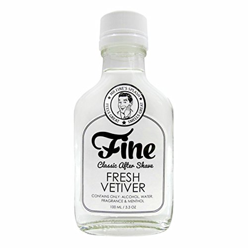 Fine Classic After Shave, Fresh Vetiver, 3.3 Ounce / 100 Milliliters
