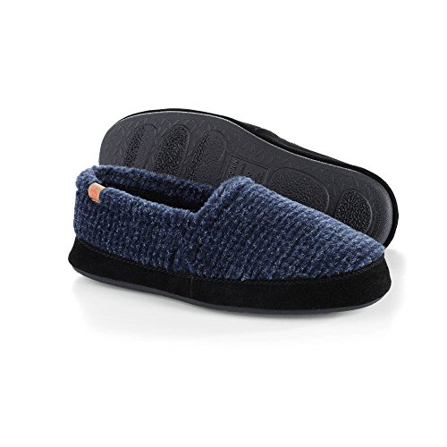 Acorn Men's Moc Slipper, Blue Check, XXX-Large/16-17 M ()