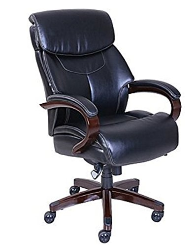 Chair Chestnut Upholstered - La-Z-Boy Bradley Bonded Leather Executive Chair - Chestnut