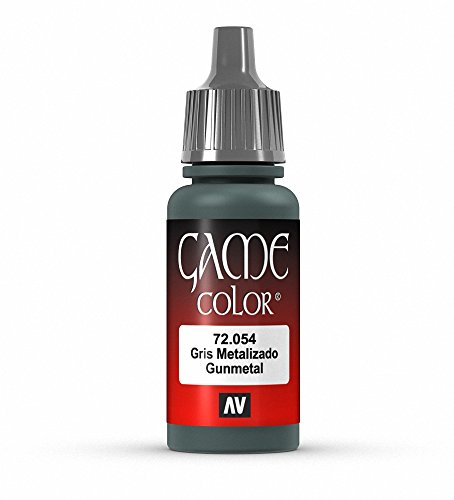 Vallejo Game Color Gunmetal Metal Paint, ()