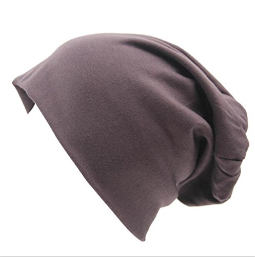 Chicago Wool Jacket Cubs - Century Star Unisex Solid Baggy Slouchy Lightweight Oversized Cotton Beanie Hat Skull Cap Dark Grey