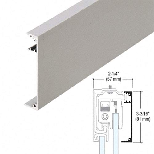 CRL285 Series Brushed Stainless Anodized Fixed Panel Adaptor Cover for 3/8