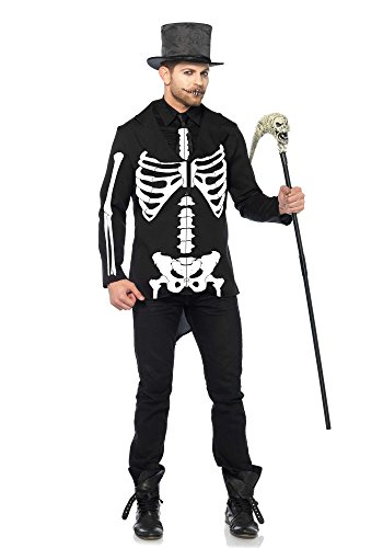 [Leg Avenue Men's Bone Daddy Costume, Black/White, Medium] (Classic Halloween Costumes 2016)