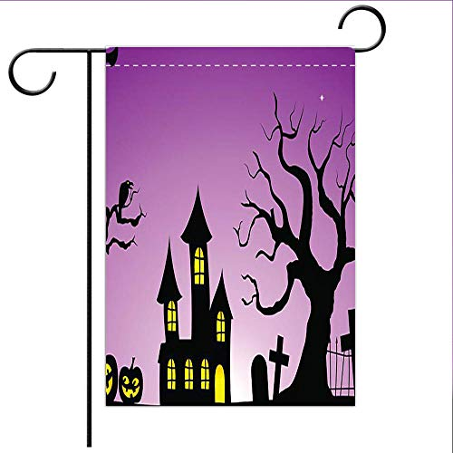 BEICICI Custom Personalized Garden Flag Outdoor Flag Spooky Halloween Background Best for Home Outdoor Decor and Party Yard