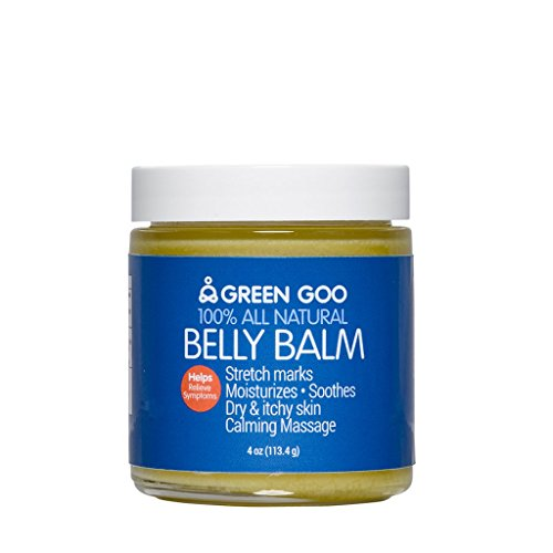 Green Goo All-Natural Skin Care, Belly Balm, 4 Ounce, Jar