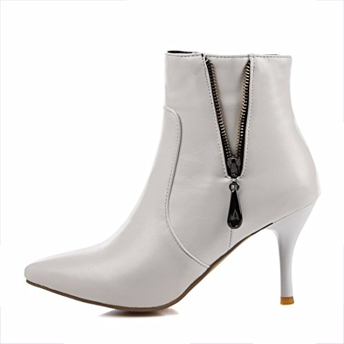 Extra light, short boots, pointed big yards, ladies boots White
