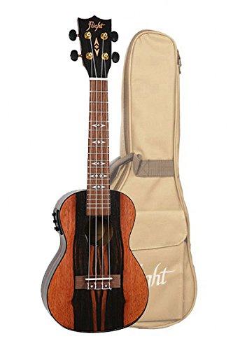 Flight: DUC460CEQ Concert Electro-Acoustic Ukulele (With Bag). Ukelele   B07B1Q67Q2