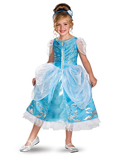 Disguise Disney's Cinderella Sparkle Deluxe Girls Costume, 3T-4T from Disguise