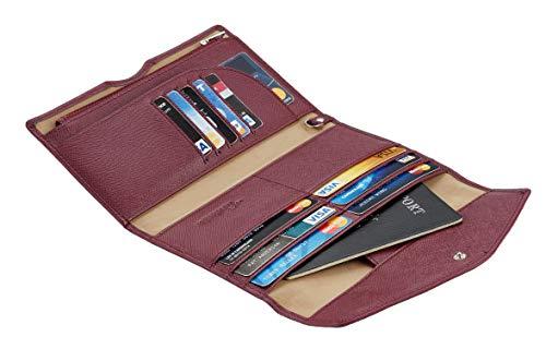 Travelambo Rfid Blocking Passport Holder Wallet & Travel Wallet Envelope Various Colors(wine red/burgundy)