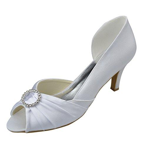 Minitoo , Damen Peep Toes Weiß
