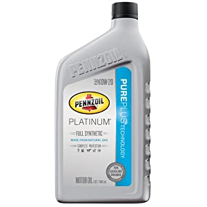 Pennzoil 550036541 Platinum Full Synthetic 0W-20 Motor Oil - 1 Quart