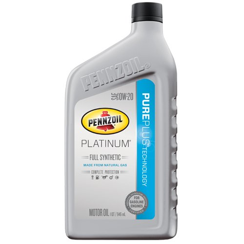 Pennzoil 550036541 Platinum Full Synthetic 0W-20 Motor Oil - 1 (0w 20 Synthetic Oil)