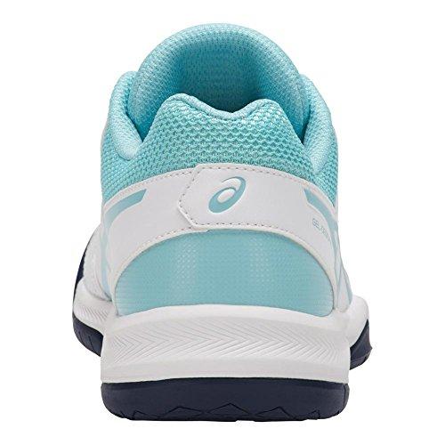 Asics Vrouwen Gel-specifieke V 5 Tennisschoen Wit / Porselein Blauw / Indigo