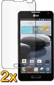 2x LG Optimus F6 D600 MS500 Premium Clear LCD Screen Protector Guard Shield Cover Film Kit. (GUARMOR Brand)