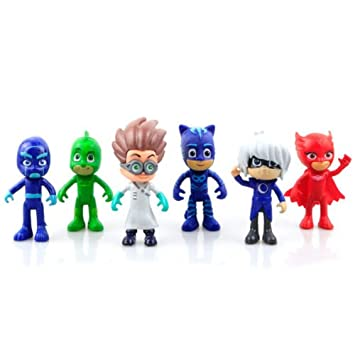 Phantomx Cute Pj Masks Characters Catboy Owlette Gekko Cloak Action Figure Toys 6Pcs Kit