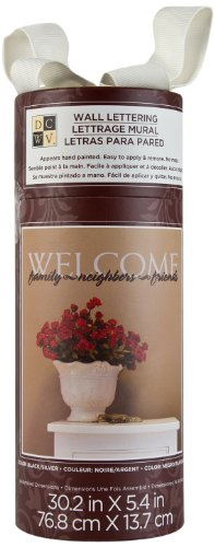 - Die Cuts With A View Lettering Welcome Family Neighbors Friends, Black/Silver, Medium