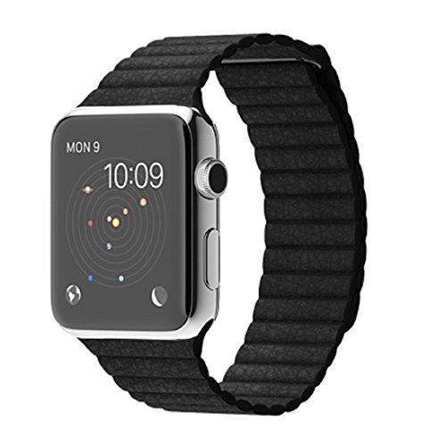 Apple Watch 42mm Lサイズ MJYP2J/A [ブラックレザーループ]