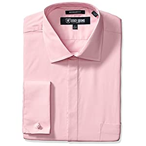 Stacy Adams Men's Big and Tall 39000 Solid Dress Shirt
