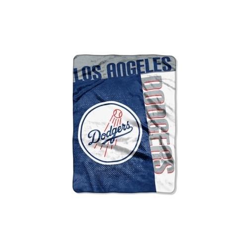 Classic Team Throw Blanket (Officially Licensed MLB Los Angeles Dodgers Strike Plush Raschel Throw Blanket, 60
