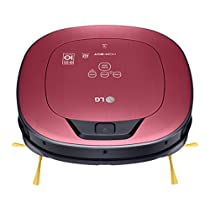 LG Electronics VR9624PR.AMRQEEU Robot Aspirador, Limpieza a Distancia vía Smartphone, 60 Decibeles, Rojo Metalizado