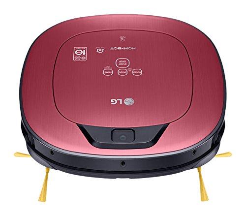 LG VR9624PR Hombot Turbo Serie 11 - Robot aspirador programable con doble cámara, limpieza a distancia vía Smartphone, para casas con mascotas, niños ...