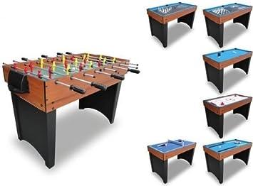 Mesa multijuegos 10 en 1 (ping pong, futbolín, billar, etc ...