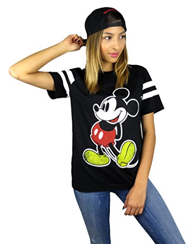 Disney-Womens-Mickey-Mouse-Varsity-Football-Tee
