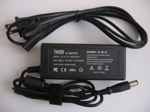 Thor Brand Replacement Ac Power Adapter Cord for Hp Pavilion Laptop Computer: G7-1113cl G7-1117cl G7-1149wm G7-1153nr G7-1158nr G7-1173dx G7-1174ca G7-1175ca G7-1178ca G7t-1200