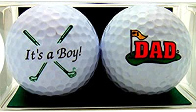 Westman Works Golf Ball Gift Pack Set of 2 Different Balls Its a Boy for New Dad Golfer