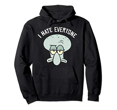 SpongeBob SquarePants Squidward I Hate Everyone Hoodie