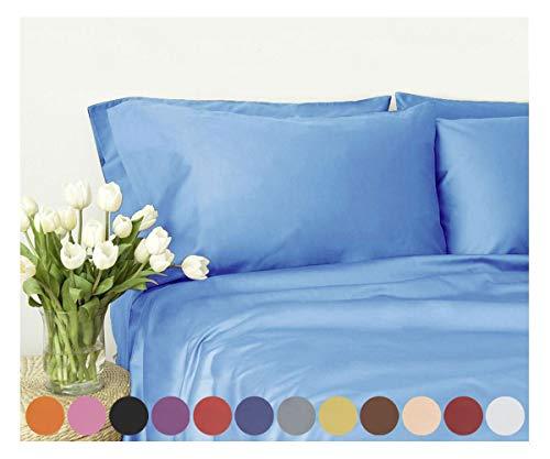 Swan Comfort Microfiber 4-Piece Bed Sheet Set - Queen, Light Blue